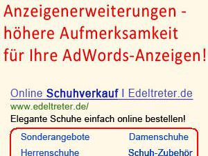 Google Adwords Anzeigenerweiterungen
