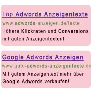Google Adwords Anzeigen richtig schreiben