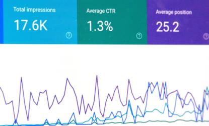 SEO-Analysen, Google Suchoptimierung, Bildschirmanzeige einer Analyse
